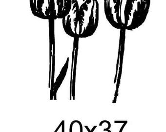 Flowers sold tc005 unmounted rubber stamp