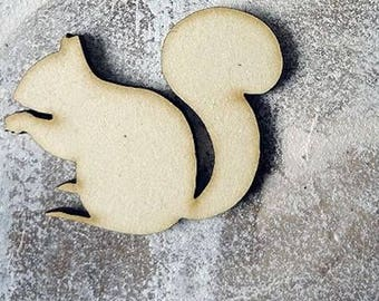 Squirrel 241 embellishment wooden creations