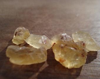 Raw Citrines - 6 Yellow Citrine - Rough Gemstones Lot MG1033