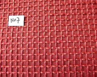 fabric red brick, coupon 64 cm x 63 cm for upholstery or sewing bag decoration