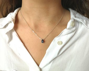 Sapphire necklace Sterling Silver 925