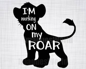 I'm Working on my Roar cutting file package (SVG, JPG, DXF files)
