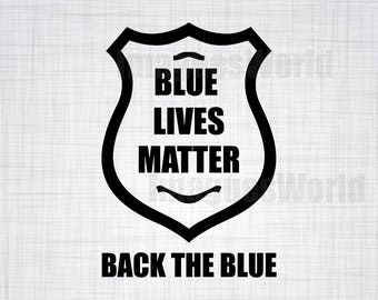Police Badge SVG, Blue Lives Matter, Thin Blue Line, Police Badge, SVG, Police Officer, Digital Cut File, Instant Download, Cut File Design