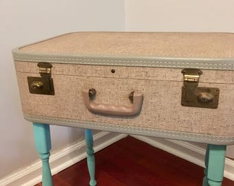 Vintage Retro Upcycled Suitcase Table