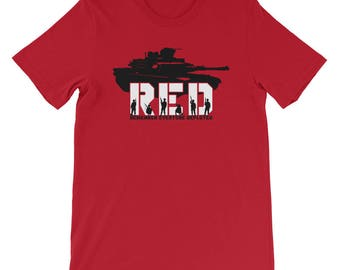 Red Friday T-shirt Remember Everyone Deployed