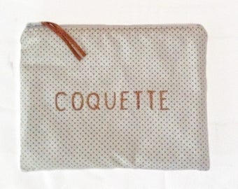 "Clutch with gold dots ""COQUETTE"""
