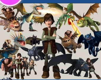 How to train your dragon clipart png images, Digital Cliparts, Stickers, Png file, Transparent Backgrounds, digital print, printable images