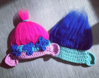 Crochet Girl Troll Beanie