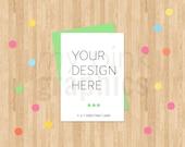 Set of 3 - 5X7 Greeting Card Mockup Bundle, 5x7 Card Mockup, Party Card Mockup, Blank Card Mockup, Styled Stock Photo, Party Card - MPG75