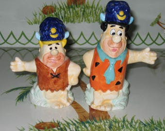 Fred and Barney salt and pepper set