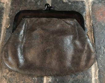 Vintage Small Brown Leather Purse