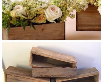 Wedding table wooden centrepiece
