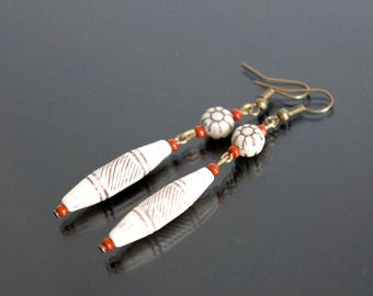 Aztec earrings.