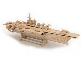 Aircraft Carrier 3D wooden puzzle/model
