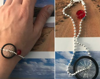 925 silver bracelet with creative Lego inserts