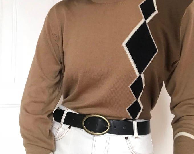 80's Vintage Mock Neck Sweater