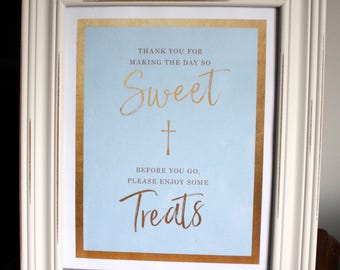 Baptism Christening Candy Sign