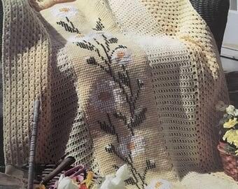 PDF Crochet/Cross-Stitch Daisy Chain Afghan