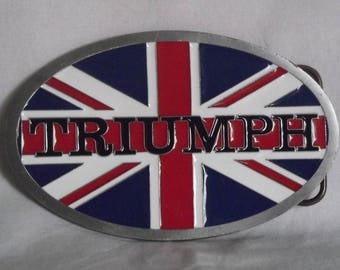 """American belt buckle marked motorcycle """"triumph"""""""