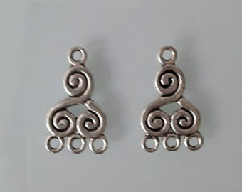 Lot 2 charms silver triskels aged 22 mm