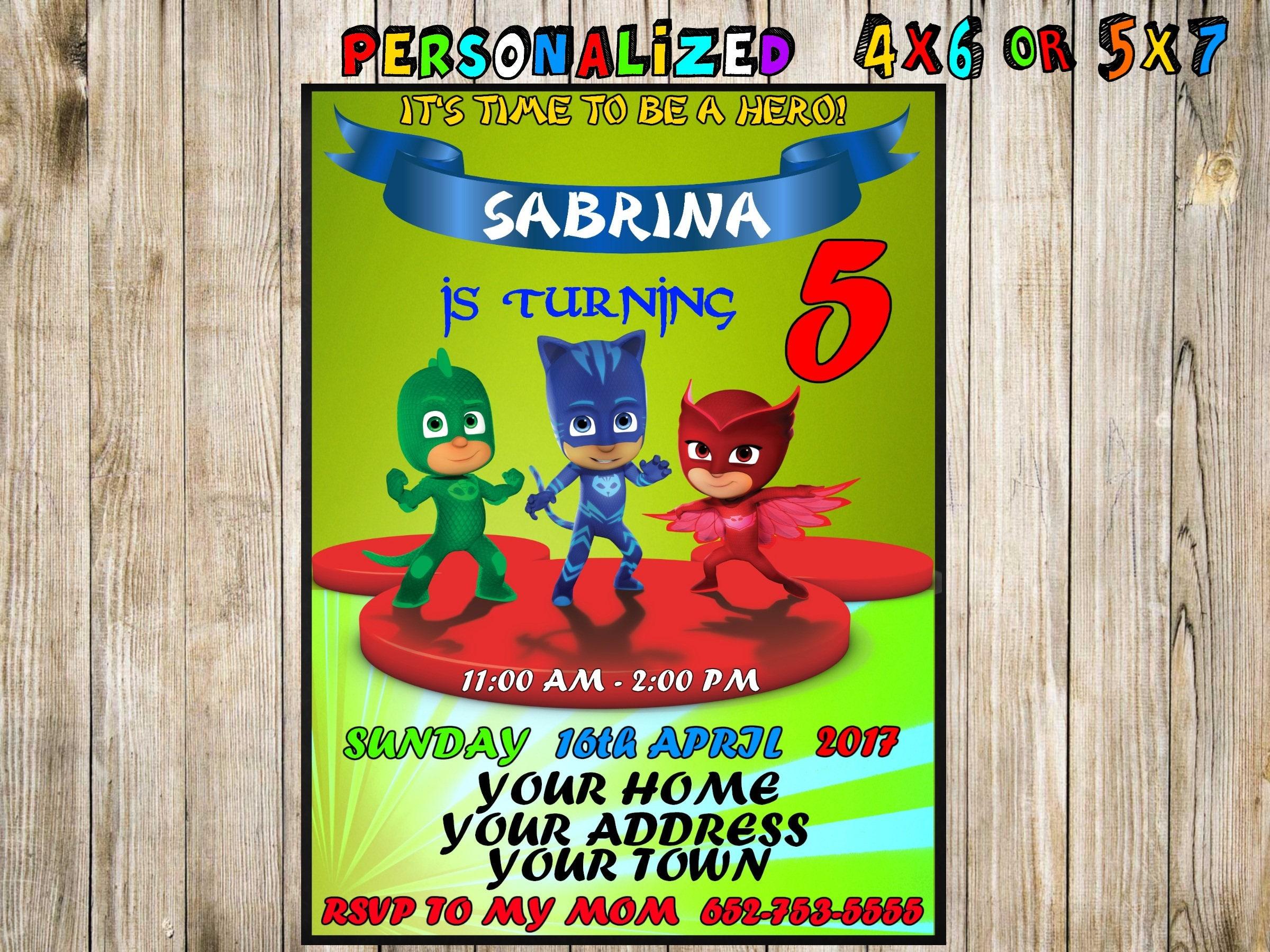 Pj Masks Birthday Pj Masks Invitation Pj Masks Party Pj Masks - Pj masks invitation template free