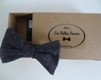 Adam cotton fabric tied bow