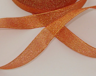 5 m lovely 15mm orange gold trim