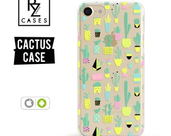 Cactus Phone Case, iPhone 7 Case, Phone Case Unique, iphone 6 case, Cactus iphone case, Gift for Her, iPhone 6s, Samsung Galaxy S7 Case