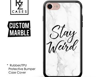 Marble Phone Case, Marble iPhone 7 Case, Quote Phone Case, Personalized Gift, 7 Plus, 6S, Custom Case, Gift, Rubber, Bumper Case