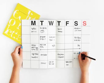 2018 KRAFT MONTHLY PLANNER | Monthly Planner | Monthly Diary | Small Planner | Large Planner | 2018 Planner | Korean Planner | A3 A4 Planner