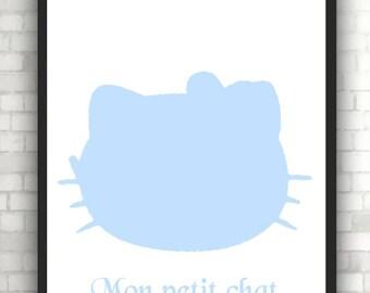 poster print kitten baby's room