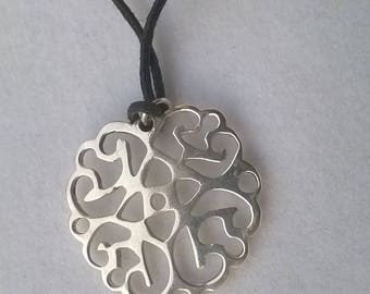 Necklace lace silver
