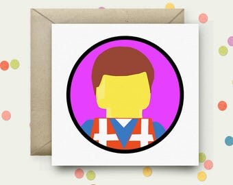 Everything is Awesome Square Pop Art Card & Envelope