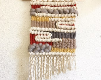 macrame wall hanging - primary colors love