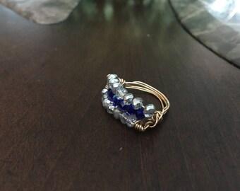 Tier Crystal Ring