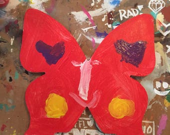 Red Butterfly Painting