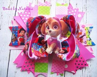 Skye Hair Bow Paw Patrol Bow Paw Patrol Party Paw Patrol Birthday  Hot Pink Paw Patrol Paw Patrol Favor Paw Patrol Dress Skye Boutique Bow