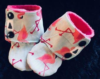 Flamingo Stay On Booties