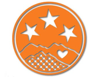 American/Tennessee flag sticker decal 2