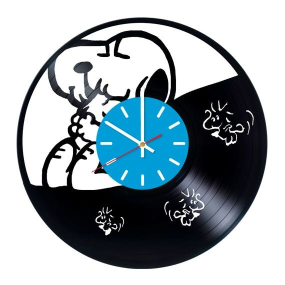 Snoopy Peanuts Wall Art Decor Wall Clock Vinyl Lp
