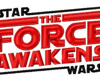 Star Wars The force awaken machine embroidery design