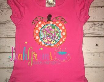 Monogram Pumpkin Applique Shirt