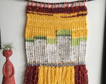 Aspen Trees Weaving | Woven Wall Hanging