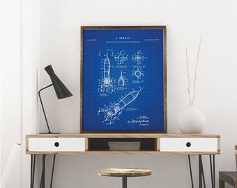 Dna print genetics art science poster patent prints dna rocket ship printables space nursery rocket power outer space print scientist malvernweather Choice Image