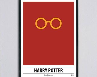 Modern retro movie poster, Harry Potter, minimal poster,