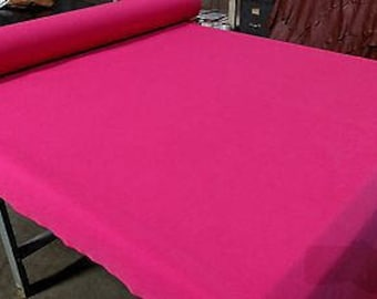 """Hot Pink 7 OZ.Cotton Canvas Duck Fabric 75""""W Upholstery Soft Tablecloth"""