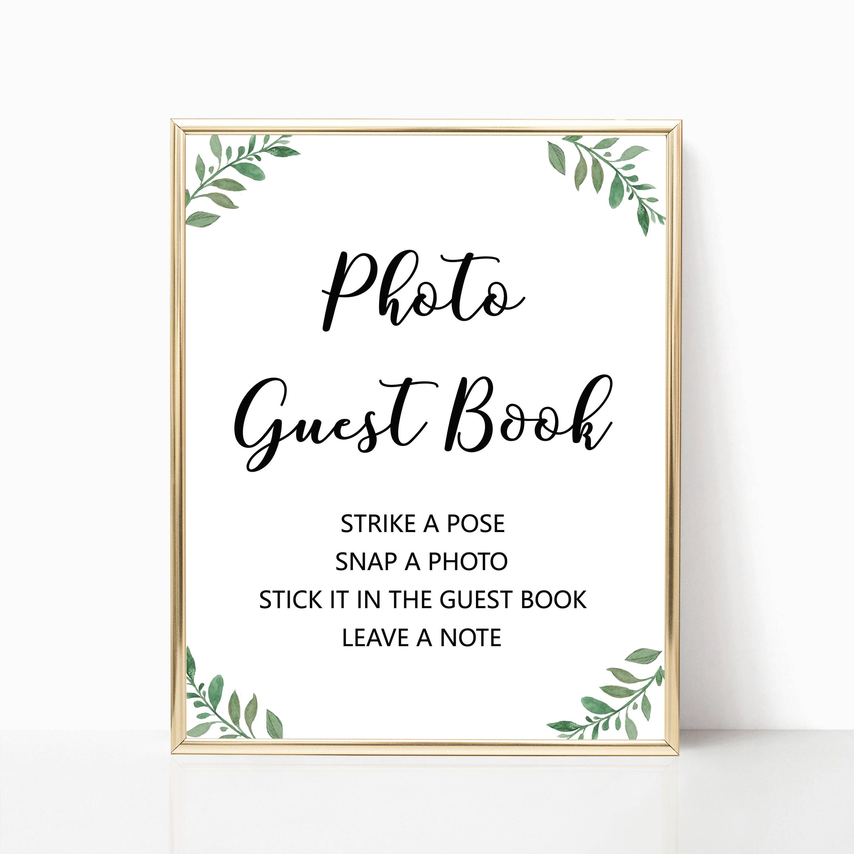 guest book printables
