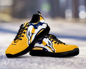 Nashville Predators Custom Running Black Shoes/Sneakers/Trainers - Ladies + Mens Sizes
