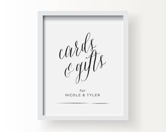 8x10_Black on White Custom Wedding Sign_Cards & Gifts
