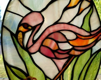 SOLD - Custom Stain Glass pieces made upon request.  Let me help collaborate with you on the perfect accessory for your home decor.